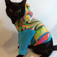 Mod Fleece Cat Hoodie by CoolCats