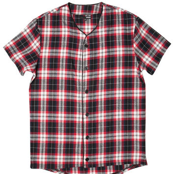 PLAID FLANNEL BASEBALL JERSEY