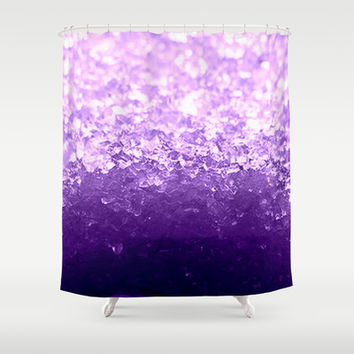 Lavender Purple Ombre Crystals Shower Curtain by 2sweet4words Designs