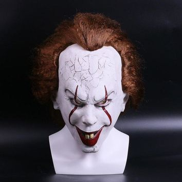 ESB6F 2017 Movie Stephen King's Pennywise Clown Joker Mask Tim Curry Horrible Halloween Party Cosplay Masks Mask Clown Latex Mask