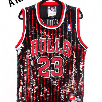 Sequin Chicago Bulls Jordan Jersey