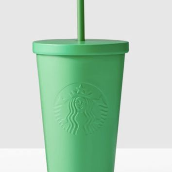 Starbucks Kelly Green Stainless Steel Cold Cup 16 Ounce Double Wall