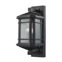87040/1 Lowell 1 Light Outdoor Sconce In Matte Black