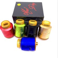 New Arrival Mad Dog Rda Atomizer 510 Electronic Cigarette Vaporizer 24mm Wild Dripka with PEI Drip Tip Wide Bore