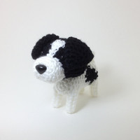 Jack Russell Terrier Plush Stuffed Animal Amigurumi by Inugurumi
