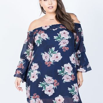 Plus Size Kimberly Floral Dress