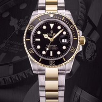 Rolex Watches Submariner Date Oyster Oystersteel And Yellow Gold | Black Dial - Best Online Sale