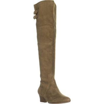 Nine West Jaen Over-the-Knee Fashion Boots, Green Suede, 8 US
