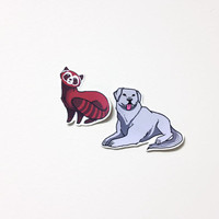 Pabu and Naga - Legend of Korra Stickers cute polar bear dog and fire ferret