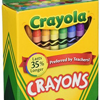 Crayola Box of Crayons Non-Toxic Color Coloring School Supplies, 24 Count, 3 Pack (52-0024-3)