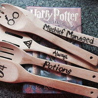Custom made Harry Potter Wood spoons