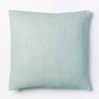 Silk Hand-Loomed Pillow Cover - Pale Harbor