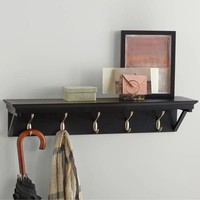 Real Simple® Wall Shelf with Hooks