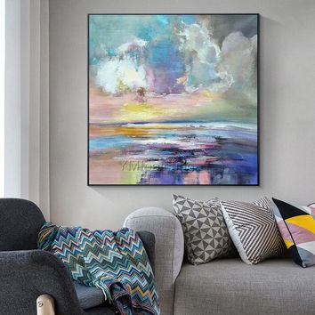 Modern abstract Canvas oil painting on canvas original acrylic heavy texture Wall Art pictures for living room huge size cuadros abstracto