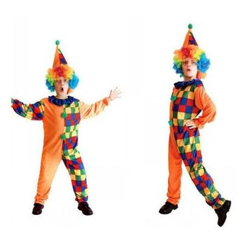PEAPON Kids Clown Costumes Clown Cosplay Costume For Boy Halloween Costume for Kids Play Children Cosplay Costumes 4 to 10 Years Old