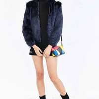 Silence + Noise Faux Fur Zip-Up Jacket