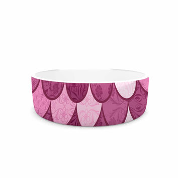 "Famenxt ""Pink Mermaid"" Pink Pattern Illustration Pet Bowl"