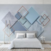 Custom Photo Wallpaper Modern Geometric Marble 3D Wall Murals Living Room Bedroom Backdrop Wall Papers For Walls 3 D Home Decor