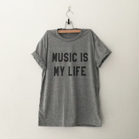 Music is my life sweatshirt clothes casual outfit for teens girls women summer fall spring winter outfit ideas school parties tumblr fashion