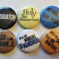 Supernatural quotes set of 10 one inch buttons