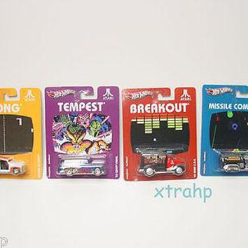 Hot Wheels Nostalgia Atari SET of 4 NEW pong, Tempest, breakout, command