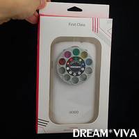 White Special Lens & Filter Turret Hard Case For Samsung Galaxy S 3 III i9300