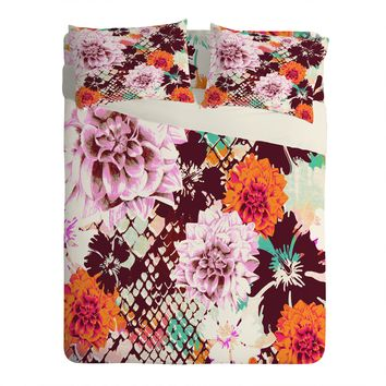 Aimee St Hill Croc And Flowers Orange Sheet Set Lightweight