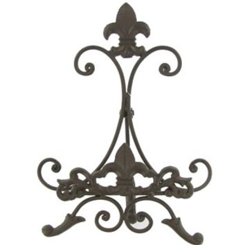 Brown Metal Easel with Fleur-De-Lis | Shop Hobby Lobby