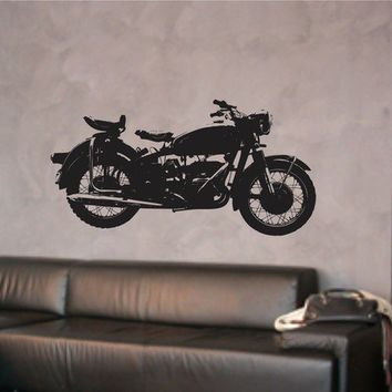 Harley Motorcycle Decal Sticker Wall Graphic Vintage by DabbleDown