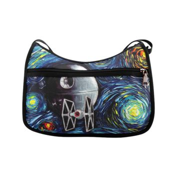 Oxford Fabric Hobo & Shoulder Bag with Galactic Empire Design