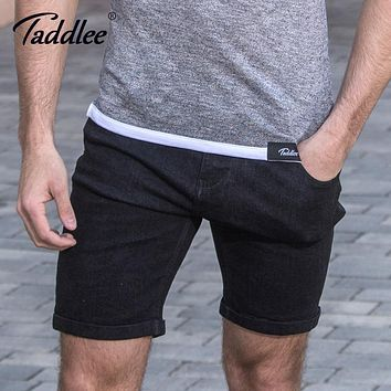Taddlee Brand Fashion Men Shorts Casual Knee Length Short Bottoms Jeans Soft Zipper Trunks Slim Fit Cargo Denim Workout Shorts
