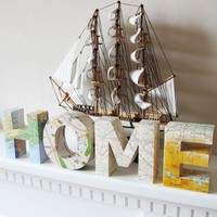 Find your way HOME Four 3d letters made from by littlewhitedog