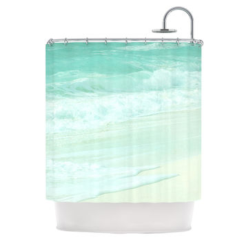Monika Strigel Paradise Beach Mint Teal Green Shower Curtain
