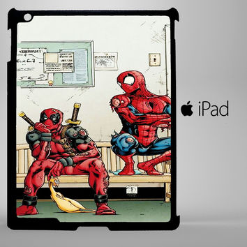 Funny Spiderman and Deadpool iPad 2, iPad 3, iPad 4, iPad Mini and iPad Air Cases