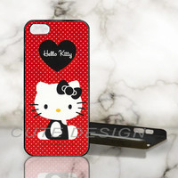 Red hello kitty vintage red - Print on Hard Cover - iPhone 5 Case - iPhone 4 / 4s Case - Samsung Galaxy S3 case - Samsung Galaxy S4 case