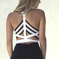 Sylt V-neck Crop Top - White