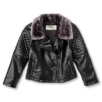 Female Moto Jackets Genuine Kids 18 M BLK