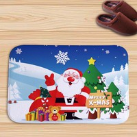 Warm Super Soft Children Floor Mat Christmas Pattern Decoration Gifts Carpet 40*60CM [118176940057]