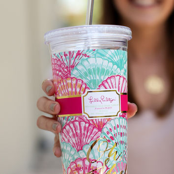 Lilly Pulitzer Reusable Cold Drink Tumbler - Oh Shello