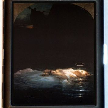 Compellingly Odd Innocent Drowning Woman Cigarette Case or ID or Business Card Case Wallet