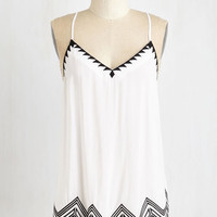 Mid-length Sleeveless Sensationally Sharp Top by ModCloth