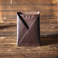 Leather Minimalist Wallet - card holder, card wallet, card sleeve, credit card holder, slim wallet, gifts for him, gifts for her #Brown