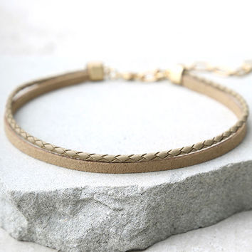 To the Streets Brown Layered Choker Necklace