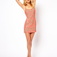 Needle & Thread Tracing Mini Dress