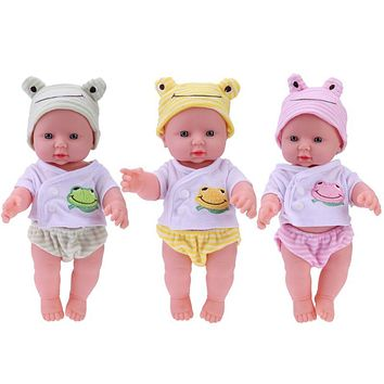 ttnight 30cm Newborn Baby Doll Soft Stuffed Simulation Doll Toy Children's Educational Lifelike Babies Dolls Birthday Gift