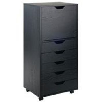 Winsome Wood 20616 Halifax Cabinet Black Finish