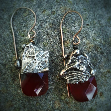 Timeless Relics Collection one-of-a-kind Earrings - Carnelian