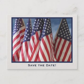 Save the Date 30th Birthday Party Postcard, Flags Announcement Postcard