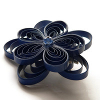 Navy Blue Wedding Hair Accessory, Dark Blue Hair Clip
