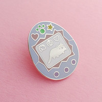 Pastel Cat Virtual Pet Enamel Lapel Pin Badge - Collaboration with Toby from I Like Cats